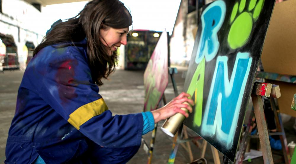 Slide 4: Graffiti Workshop met de hele familie in Antwerpen